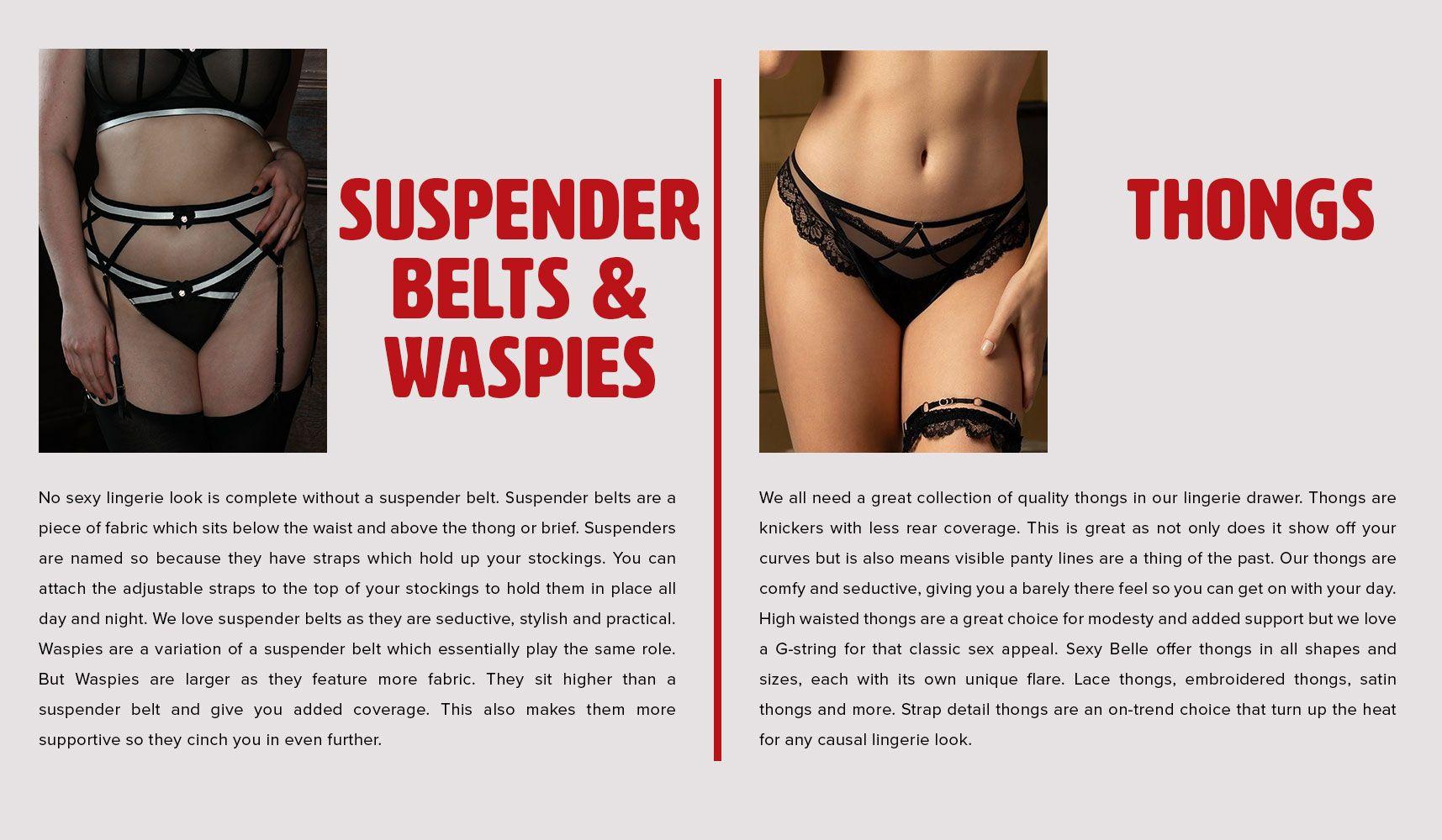 suspender belt thongs