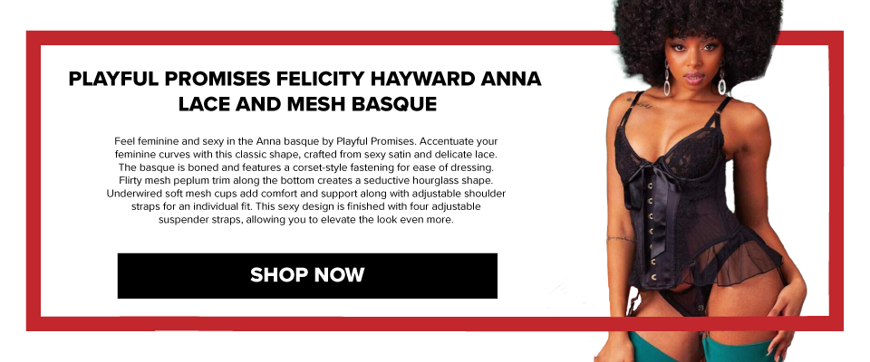 PPFH001 Playful Promises Felicity Hayward Anna Lace And Mesh Basque