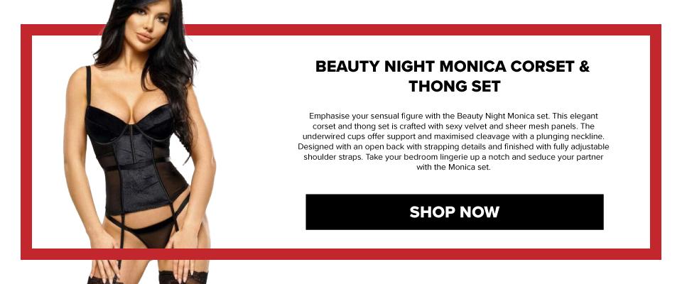 BN6564 Beauty Night Monica Corset & Thong Set