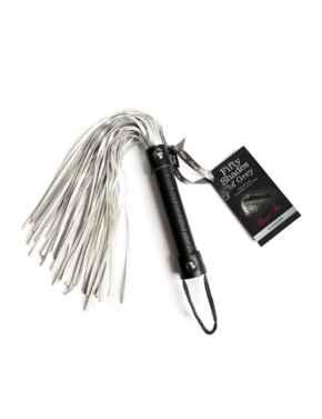 E24214 Fifty Shades of Grey Satin Flogger - E24214 Black/Metallic Silver