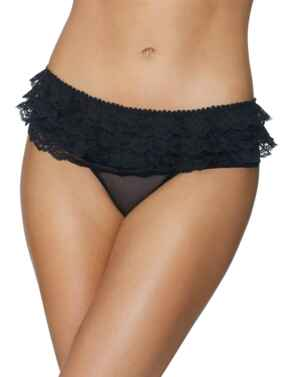 P071 Aubade Boite A Desir Bikini Frou Frou Brief - P071 Noir