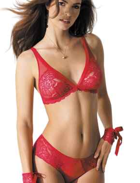 CCG6523 Antinea by Lise Charmel Tendre Capture Triangle Bra - CCG6523 Rouge Capture