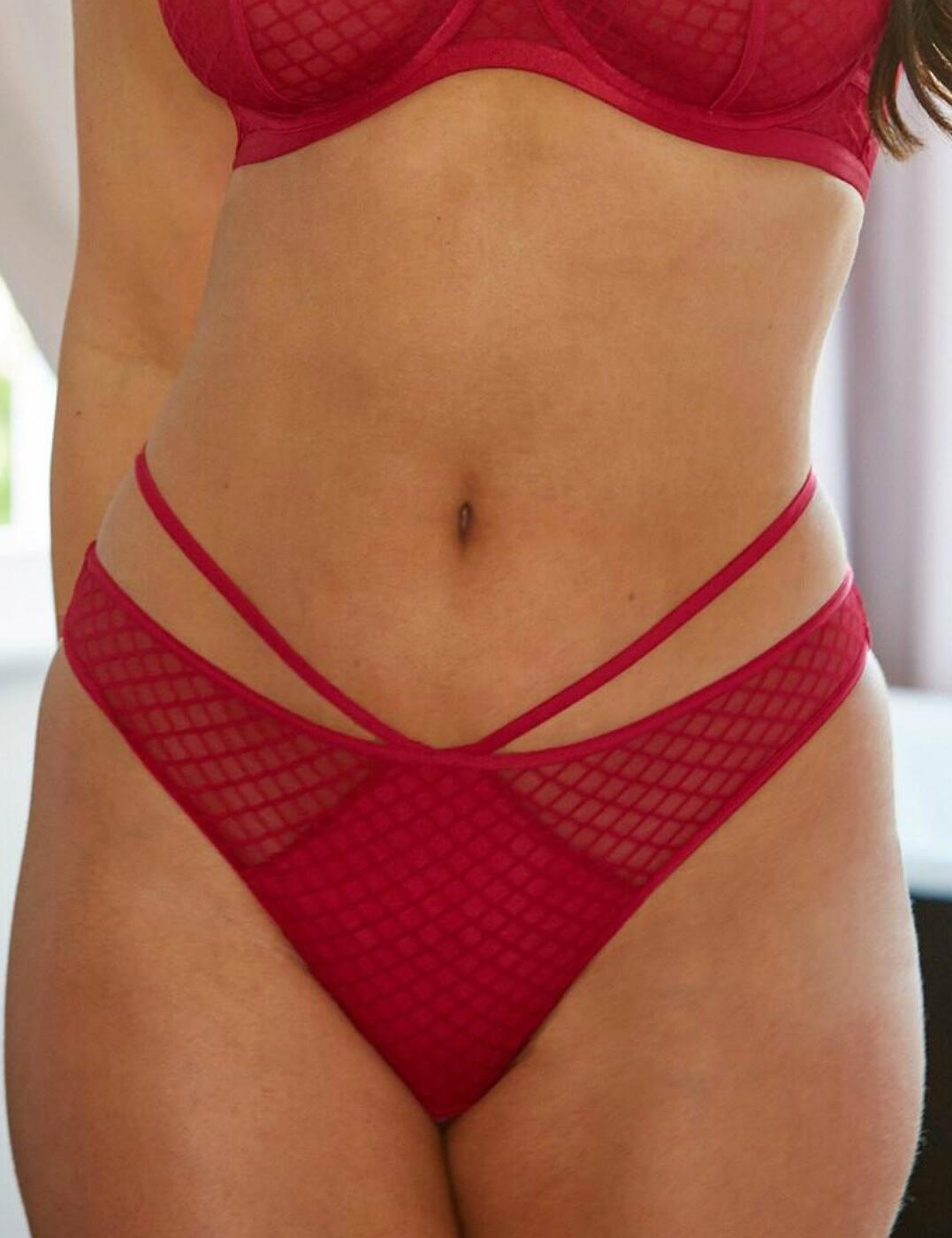 12103 Contradiction by Pour Moi Illicit Open Back Brief - 12103 Red