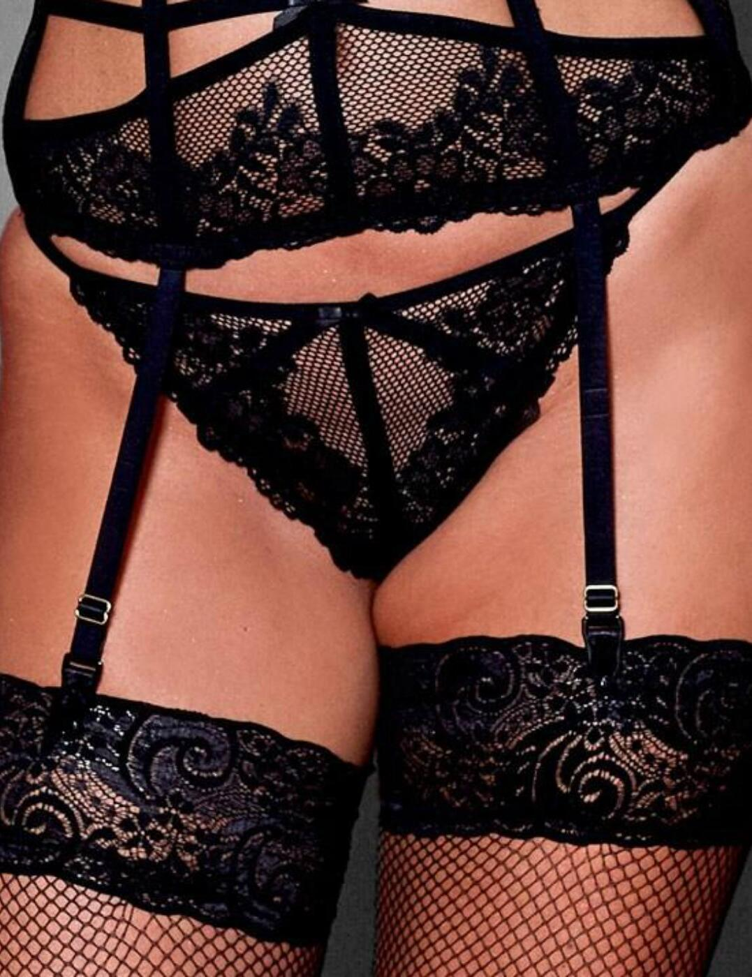 50004 Contradiction by Pour Moi Strapped G String Thong - 50004 Black