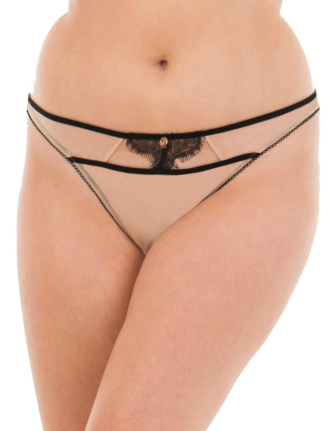 3802 Scantilly by Curvy Kate Passion Thong - 3802 Latte