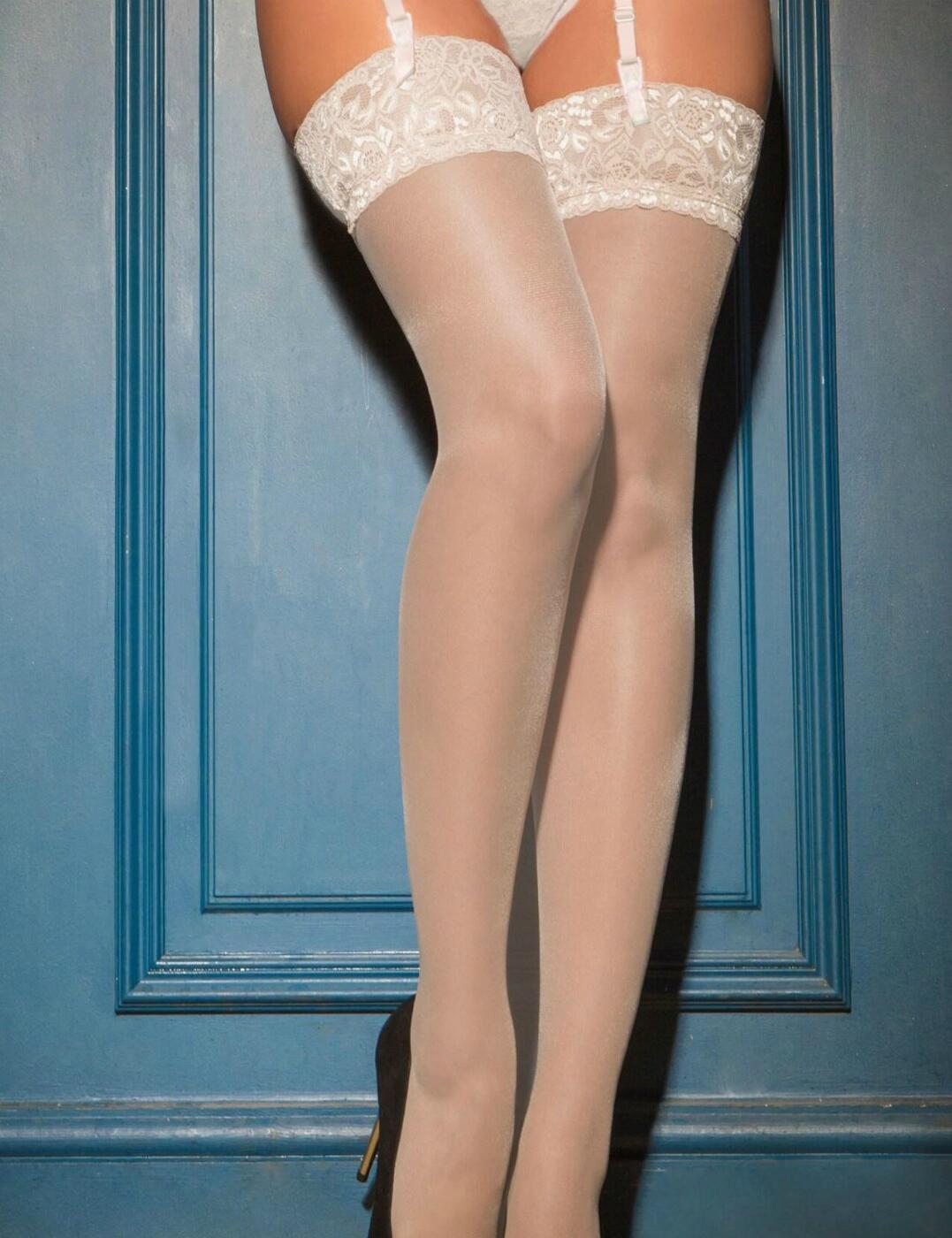 252 Pour Moi Allure Lace Top 15 Denier Stockings - 252 Ivory