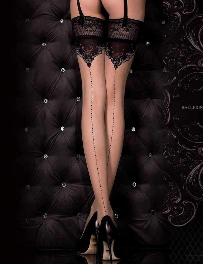317 Ballerina Hush Hush Hold Ups - 317 Black/Skin