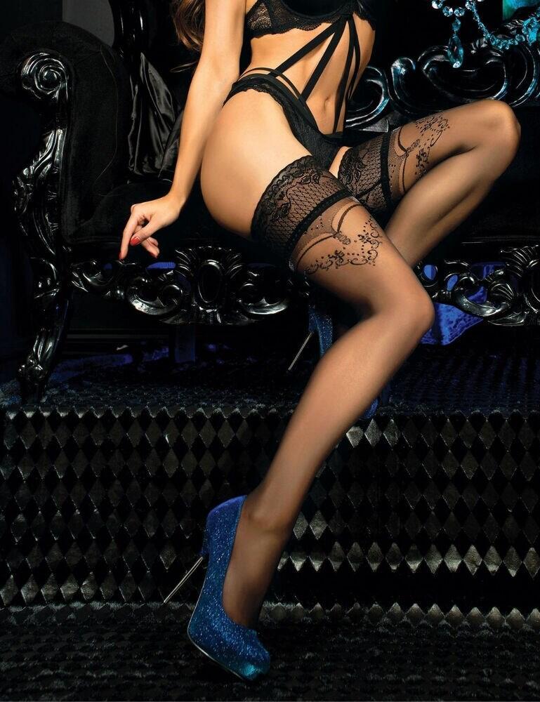 441 Ballerina Glitter Hold Ups - 441 Black
