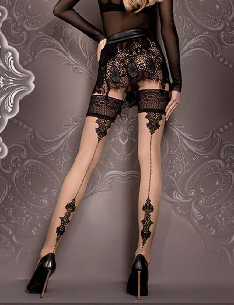 419 Ballerina Hold Ups - 419 Black/Skin