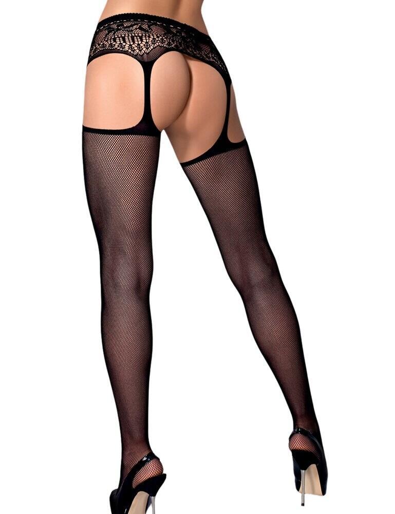 S307 Obsessive Garter Stockings - S307 Black