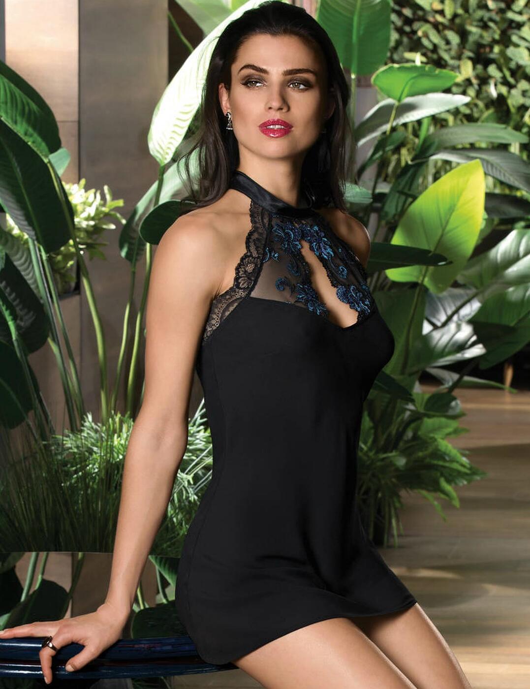 ALG1708 Lise Charmel Nuit Elegance Babydoll - ALG1708 Nuit Saphir