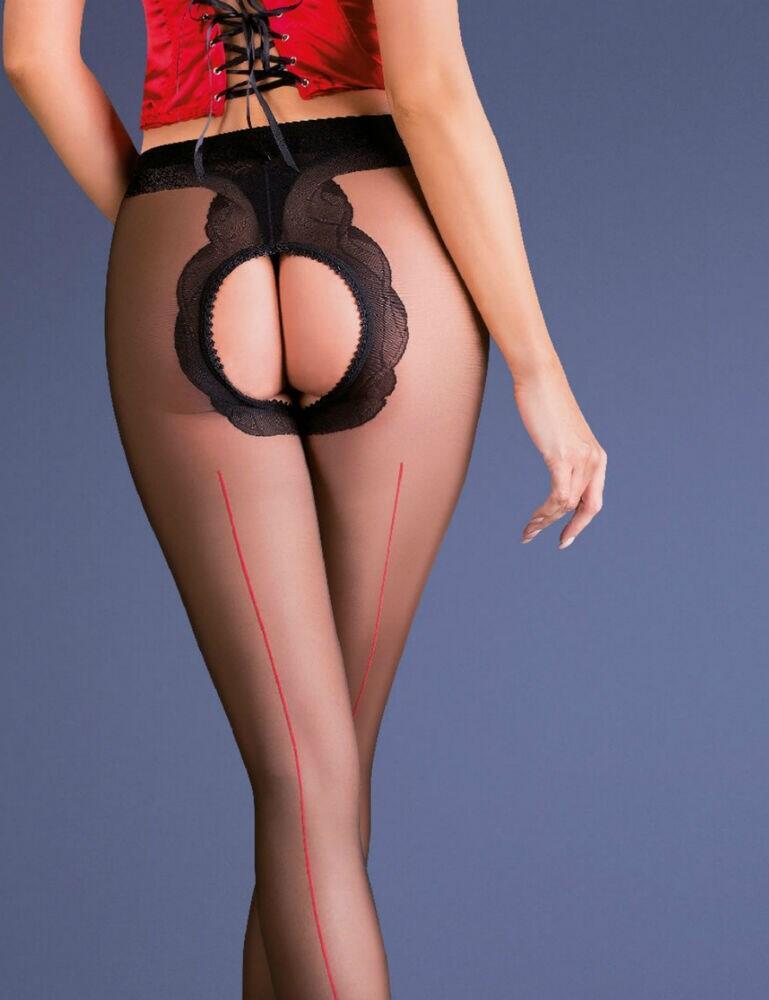 Gabriella Fiera Erotic Tights - Black/Red