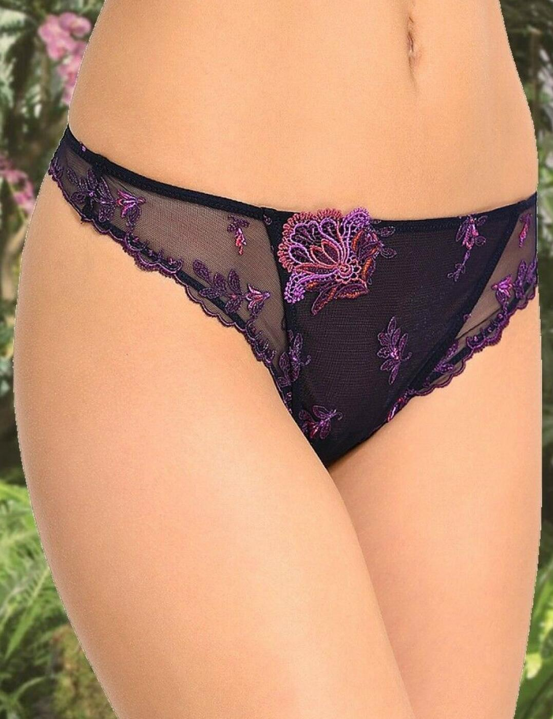 ACG0009 Lise Charmel Foret Lumiere Thong - ACG0009 Foret Pourpre