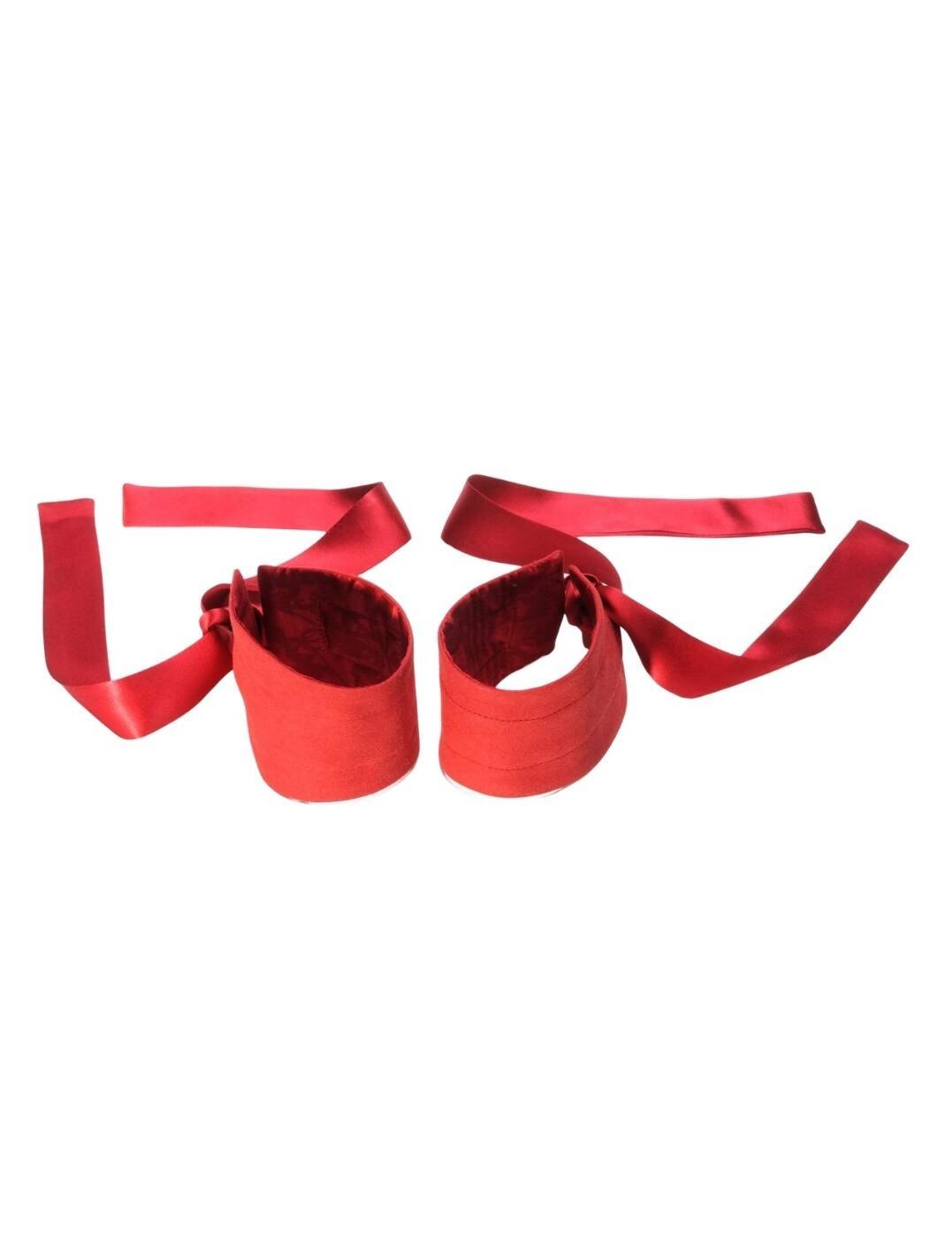 E21962 Lelo Etherea Silk Cuffs - E21962 Red