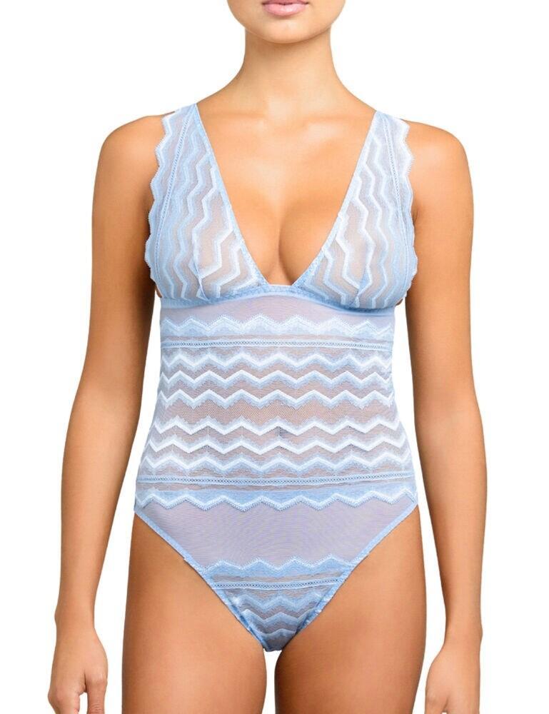 MAR-022-11 Coco de Mer Muse Margot Bodysuit - MAR-022-11 Blue