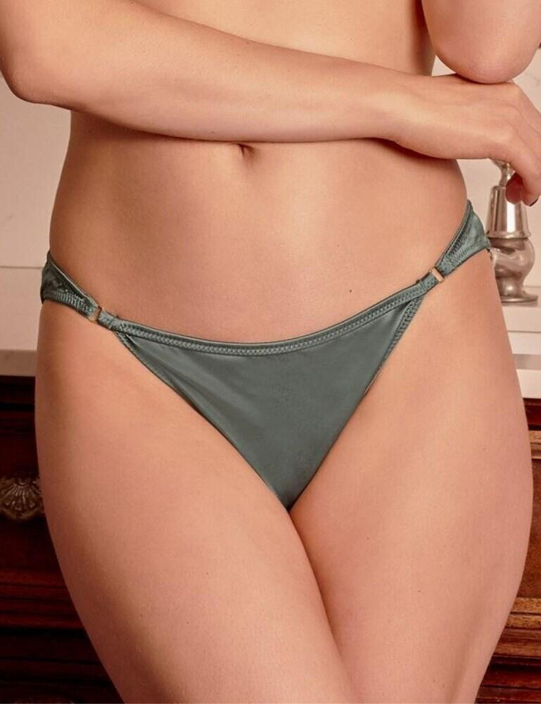 18804 Contradiction by Pour Moi Satin Luxe Brazilian Brief - 18804 Forest