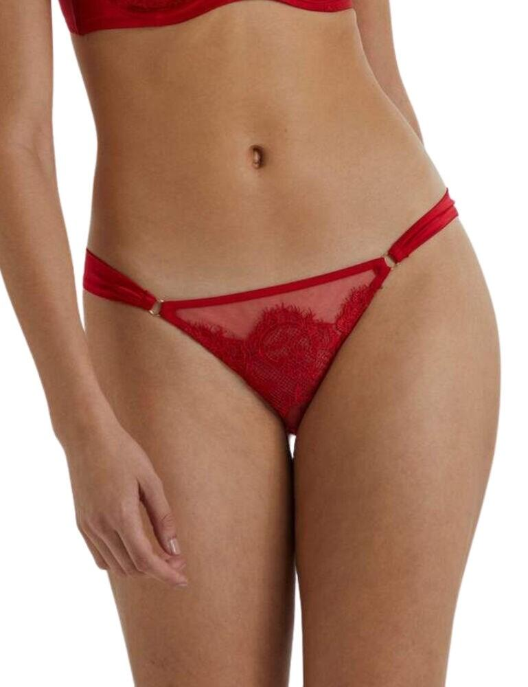 PPB3180 Playful Promises Anneliese Satin Brazilian Brief - PPB3180 Red