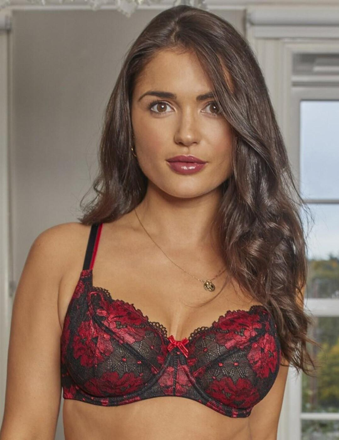 18702 Contradiction by Pour Moi Decadence Underwired Bra - 18702 Red/Black