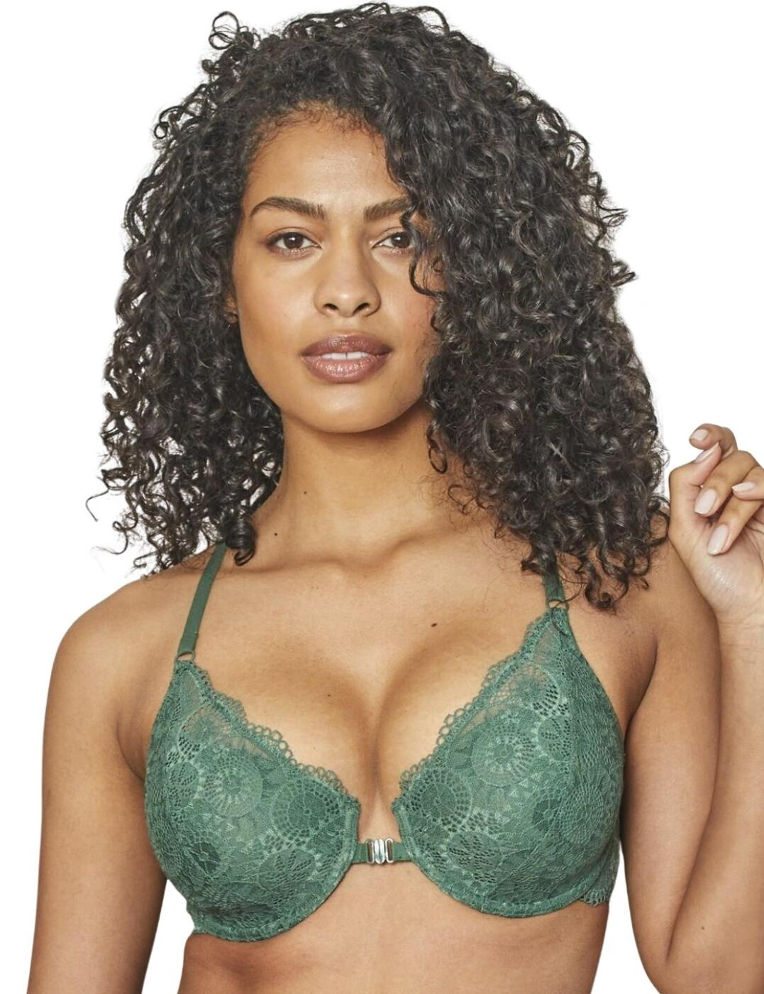 182900 Contradiction by Pour Moi Love Front Fastening Padded Bra - 182900 Forest