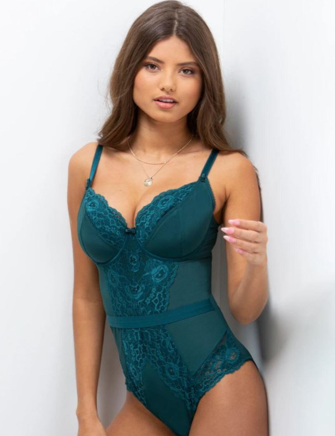 11510 Contradiction by Pour Moi Opulence Underwired Body - 11510 Forest