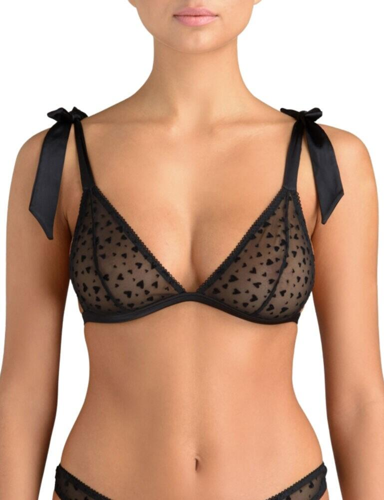 Muse by Coco De Mer Aubrey Triangle Bra Black