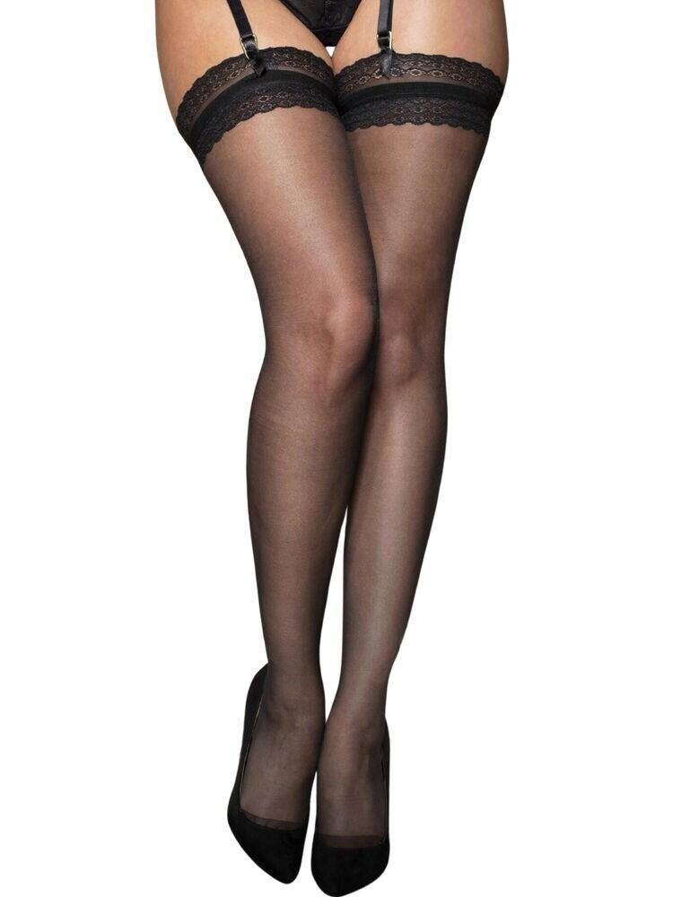 Contradicton by Pour Moi Statement Stockings Black