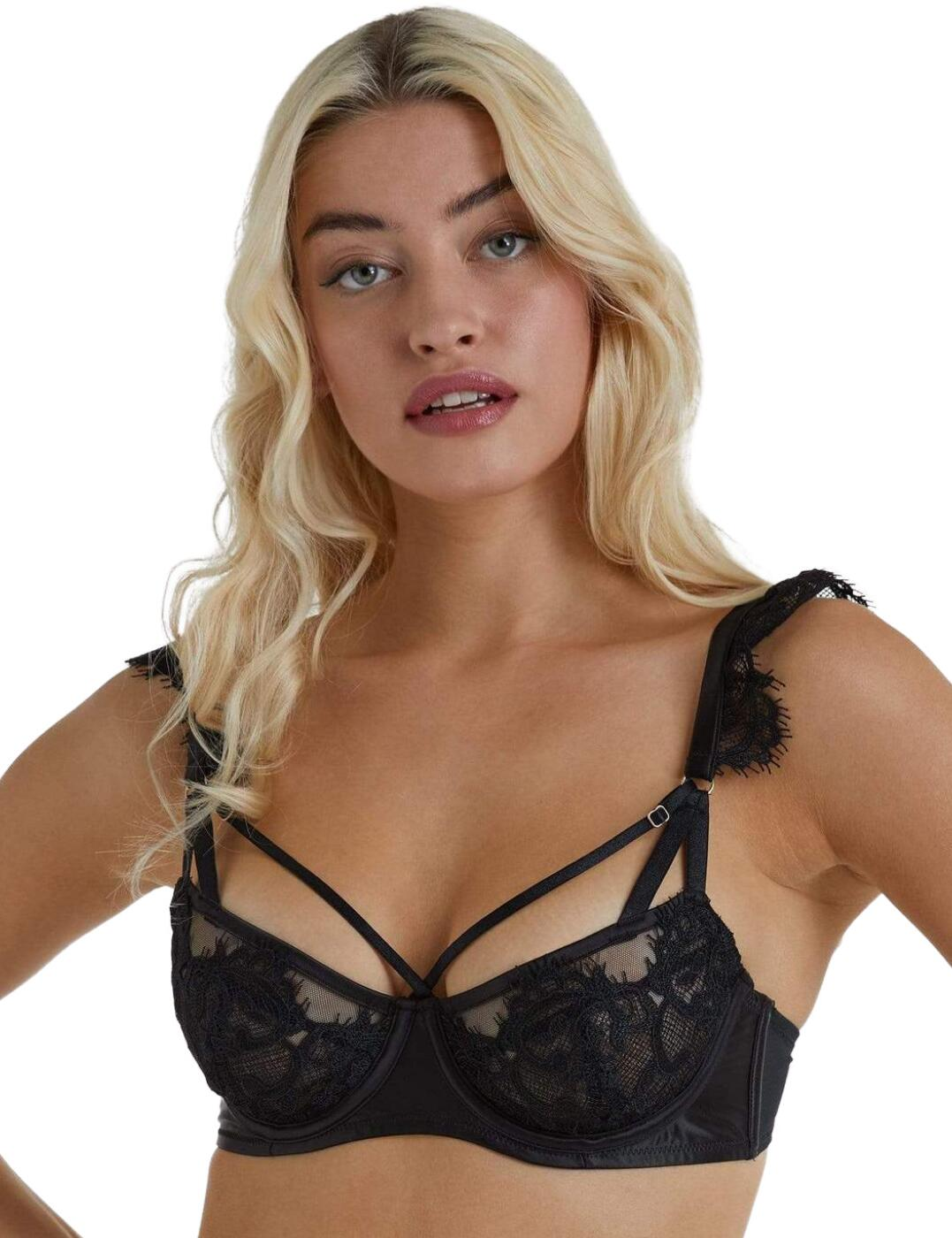 Playful Promises Anneliese Lace Bra Black