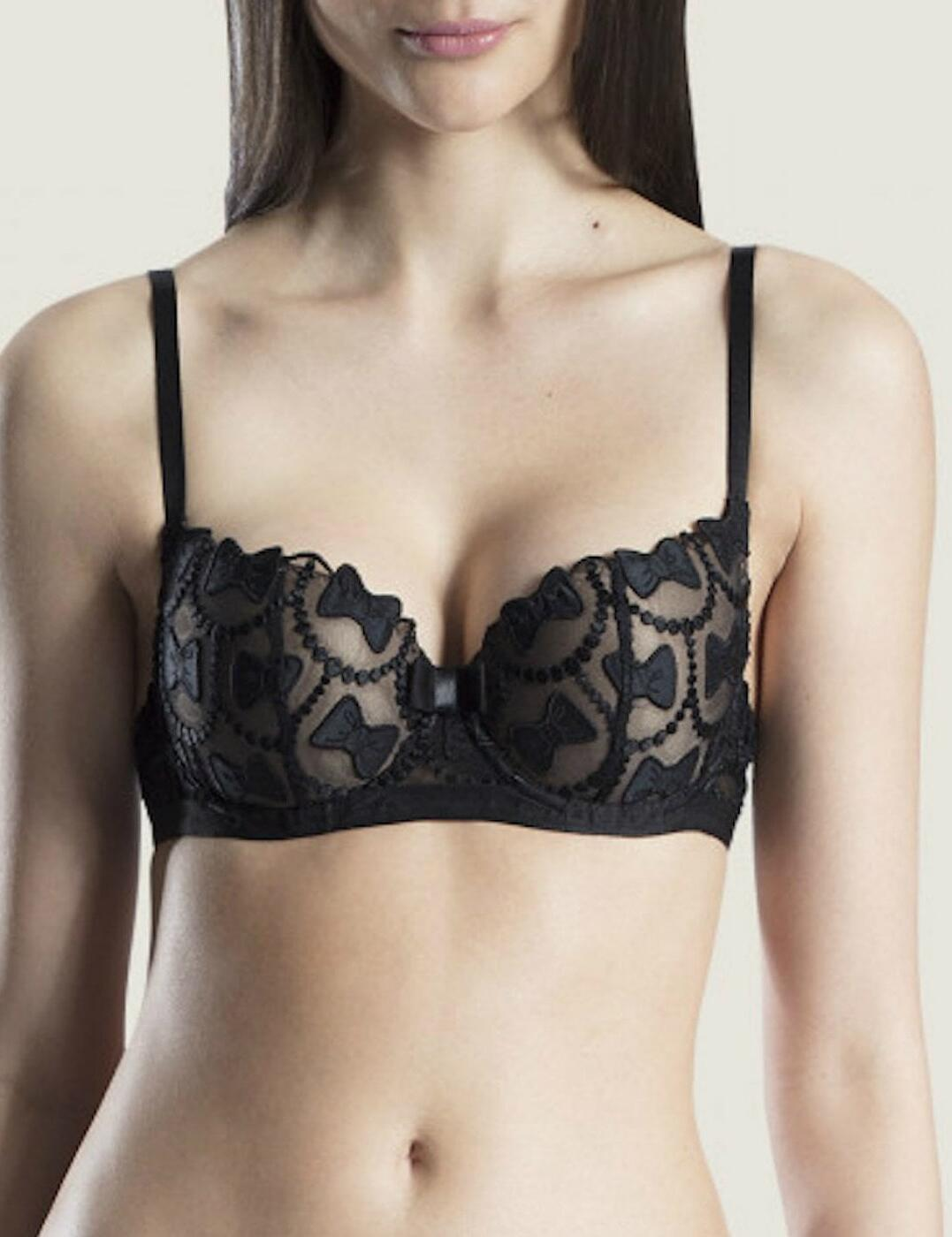 Aubade Viktor & Rolf The Bow Collection Moulded Half Cup Bra Soir