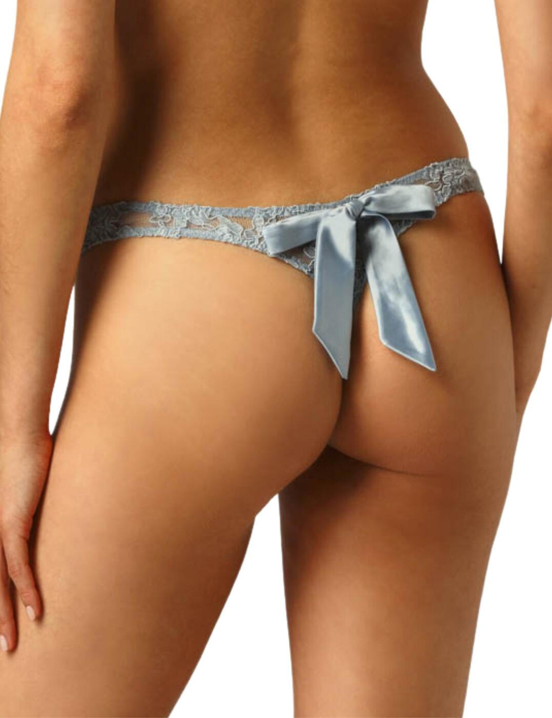 Muse by Coco De Mer Viola Thong in Pale Blue