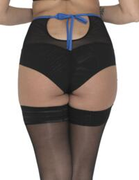 ST4865 Scantilly by Curvy Kate Encounter Suspender Brief - ST4865 Black/Peacock