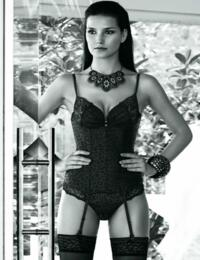 AD02 Aubade Passion Mexicaine Body Shaping Suspender Basque - AD02 Black (ZORR)