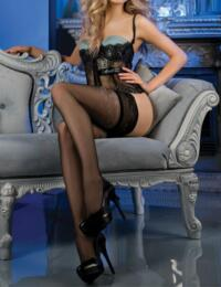 469 Ballerina Lace Top Hold Ups - 469 Black