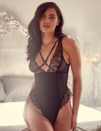 WWL787 Wolf & Whistle Madden Micro and Mesh Lace Body - WWL787 Black