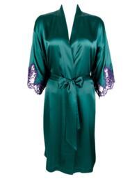 ALC2080 Lise Charmel Splendeur Soie Negligee - ALC2080 Splendeur Turquoise