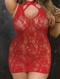 90393 Shirley of Hollywood Plus Size Chemise - X90393 Red