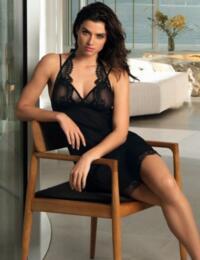 ALG1235 Lise Charmel Ecrin Glamour Sexy Nighty - ALG1235 Black