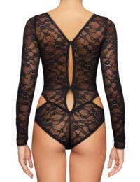 Coco De mer Aphrodite Bodysuit in Black