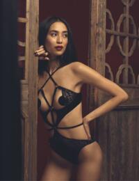 Coco De Mer Shobu Playsuit in Black