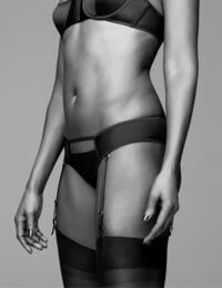Coco De Mer Sylph Suspender Knicker in Black
