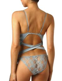 Muse by Coco De Mer Viola Playsuit in Pale Blue