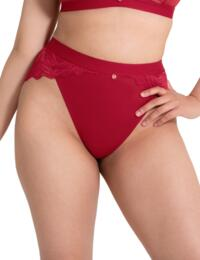 Scantilly by Curvy Kate Indulgence High Waist Brief Red